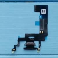 Шлейф Apple iPhone XR коннектора зарядки Black
