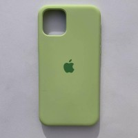 Чехол Silicone Case для Apple iPhone 11 Pro Max Avocado + кабель Foxconn Lightning