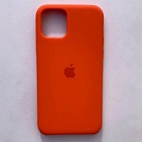 Чехол Silicone Case для Apple iPhone 11 Pro Max Orange + кабель Foxconn Lightning