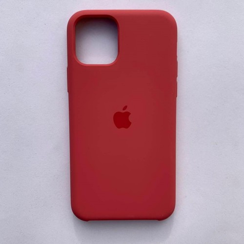 Чехол Silicone Case для Apple iPhone 11 Strawberry + кабель Foxconn Lightning