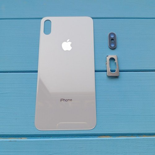 Задняя панель корпуса Apple iPhone XS Max Silver