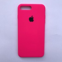 Чехол Silicone Case для Apple iPhone 7 Plus, 8 Plus Neon Pink